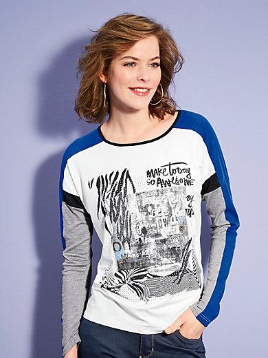Looxent - Shirt i mønstermiks med skinnende effekt