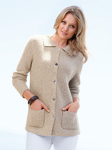 Peter Hahn Cashmere Nature - Strikjakke 100% kashmir