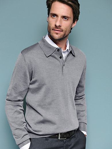 Peter Hahn - Polostrikbluse i 100% ren ny uld