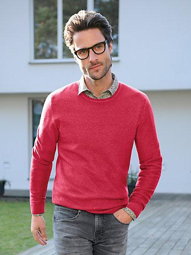 TEAMPROJECT - Bluse med rund hals af 100% ren ny uld